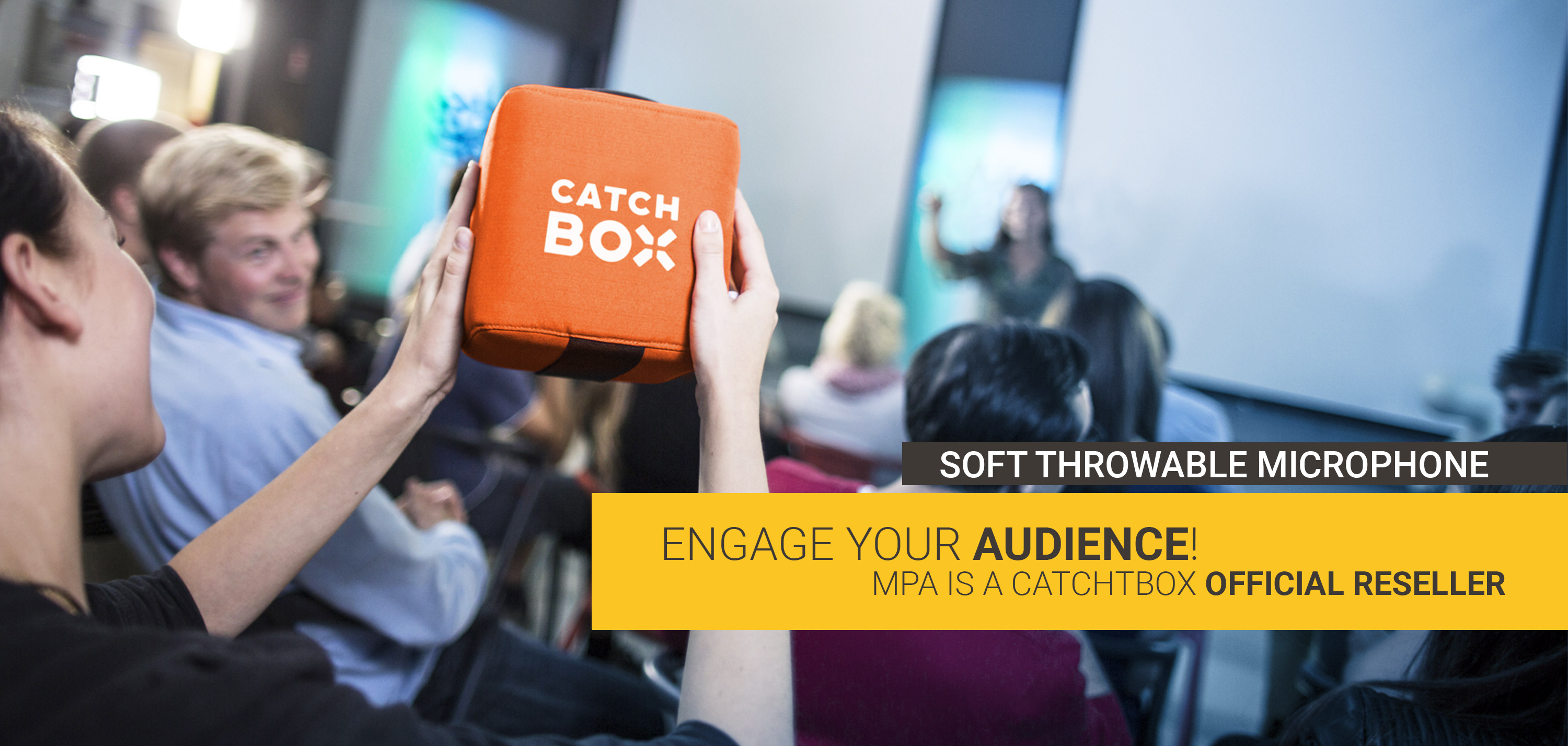 Catchbox, the throwable wireless microphone for audience engagement